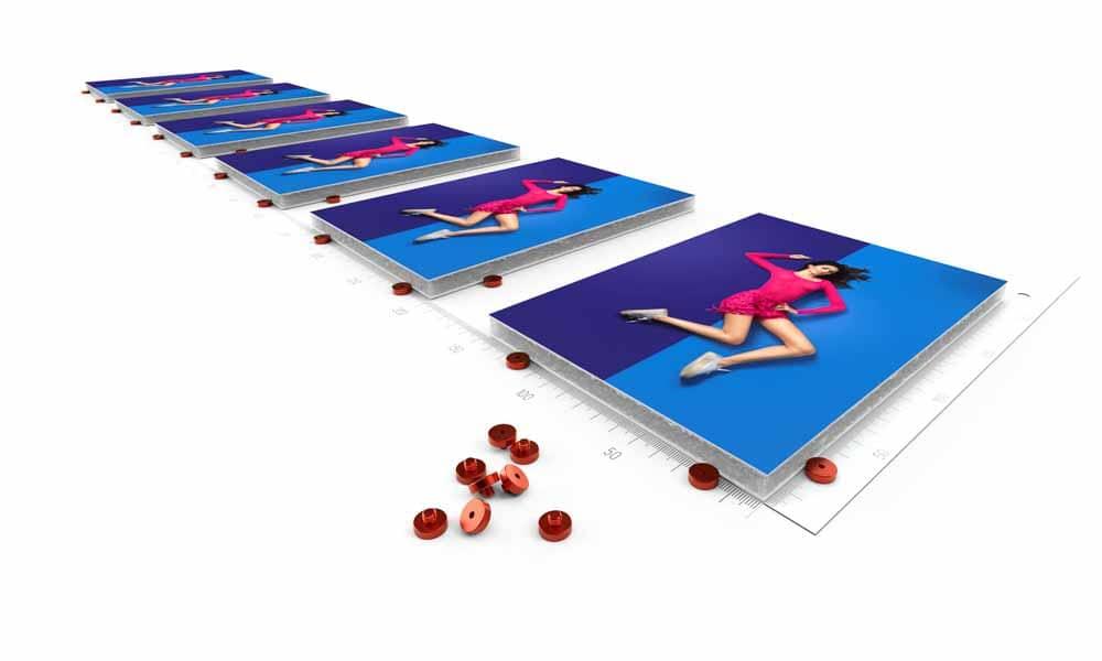Taquets de calage swissQprint : idéals pour l'impression par la combinaison de sérigraphie et numérique