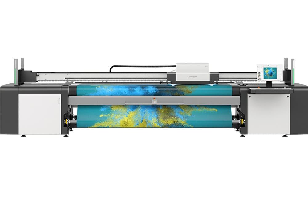 Imprimante LED UV grand format swissQprint : imprimante roll-to-roll Karibu