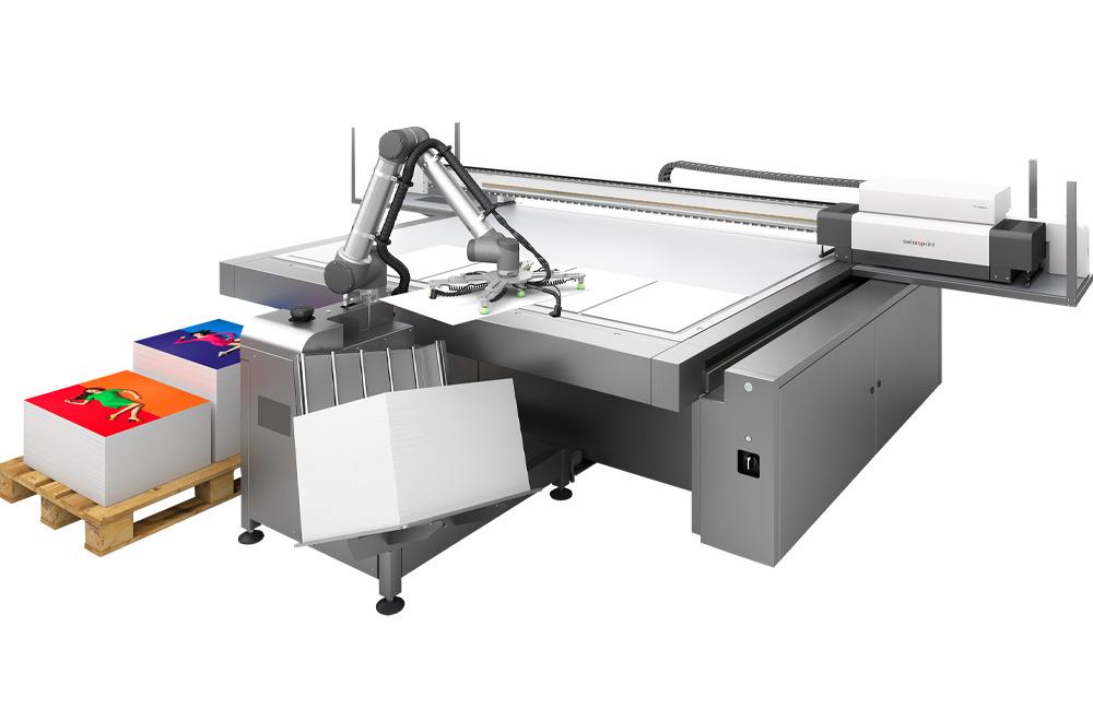 Option robot de chargement Rob pour impression numérique grand format UV swissQprint