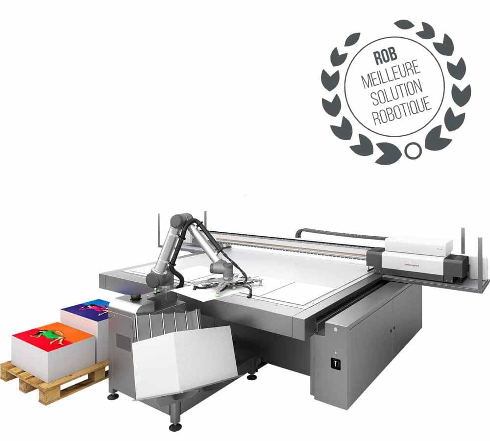 Rob, le robot de chargement swissQprint : automatisez votre production facilement