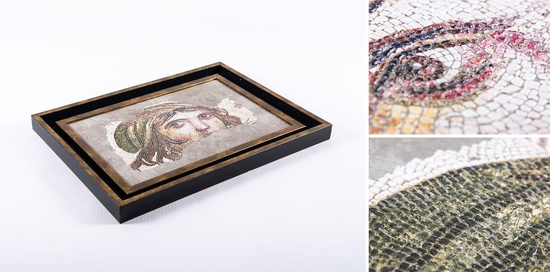 Creative Challenge swissQprint : 4ème place - réplique de la mosaïque de La Gitane de Zeugma