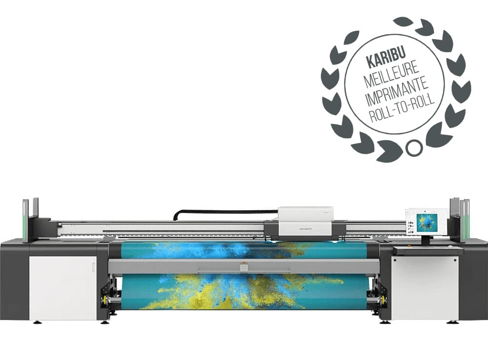 Impression grand format swissQprint : Karibu roll-to-roll pour impression sur support souple
